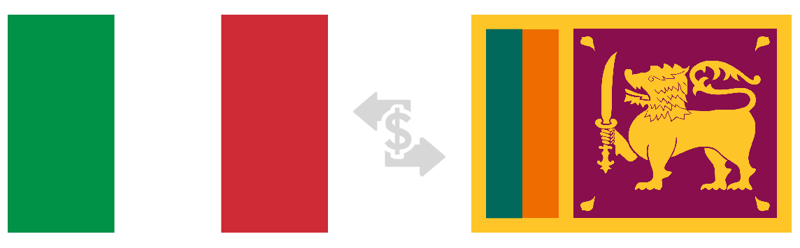 Srilanka and Italy Flag